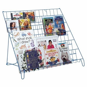 Ms. Popularity 6 Shelf Wire Book Literature with 1 1/2