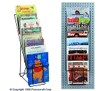 Wire 8 Pocket Literature Magazine Foldable Display C8