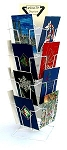 18 Pocket Wire Counter Spinner Card Display