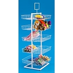 Square Wire Open View 10 Basket - Double-Sided Display