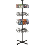 32 Pocket Economical  CD DVD Floor Wire Rack Display Spinner