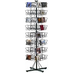 64 Pocket CD Floor Wire Rack Display Spinner