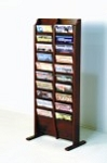 Wooden Mallet Wood 20 Pocket Magazine Floor Rack - MR 20FS