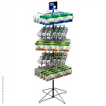 30-Hook Economical Floor Display for Hanging Merchandise  Spinner7.25 Wide