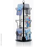 12-Pocket Countertop Greeting Card Display Spinner Rack