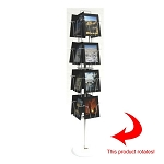 16 Pocket Spinner Floor Display for 8x10 Material 168010F