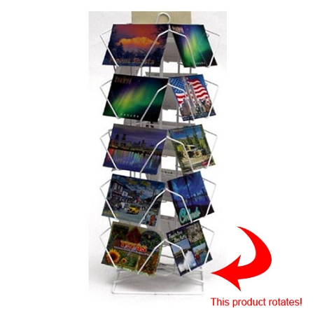 40 Pocket Wire Countertop Postcard Spinner Display 40CHC40 Best Literature Display Stands Canada