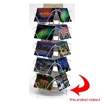 20 Pocket Wire Countertop Postcard Spinner Display