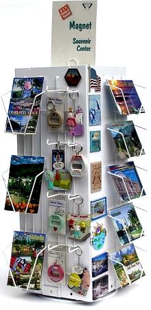 14 Pocket Counter Spinner Greeting Card Display