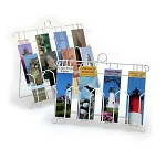 4 Pocket Bookmark Notepad Wall Counter Display Stand White