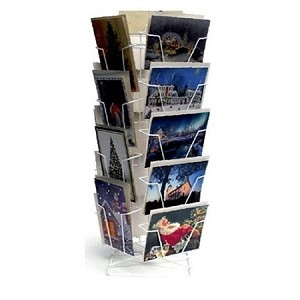 Greeting cards display racks 18 pocket wire spinner counter greeting card display 5x7 m4hsunfo