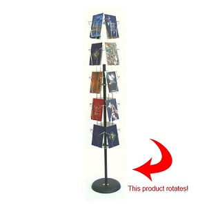 20 Pocket Wire Spinner Greeting and Postcard Floor Display 20TVF100