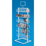 Square Wire Open View CD/DVD Display   Double Sided