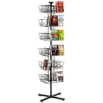 48 Pocket Paperback Book Floor Rack Display Spinner Rack