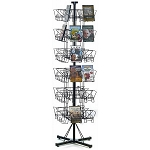 48 Pocket DVD Floor Wire Rack Display Spinner