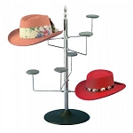 Women's Countertop Wire 8 Hat Rack Display Chrome Spinner