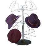 Men's Countertop Wire 12 Hat Rack Display Chrome
