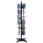 48 Pocket Floor Greeting Card Display Spinner Rack Black or White