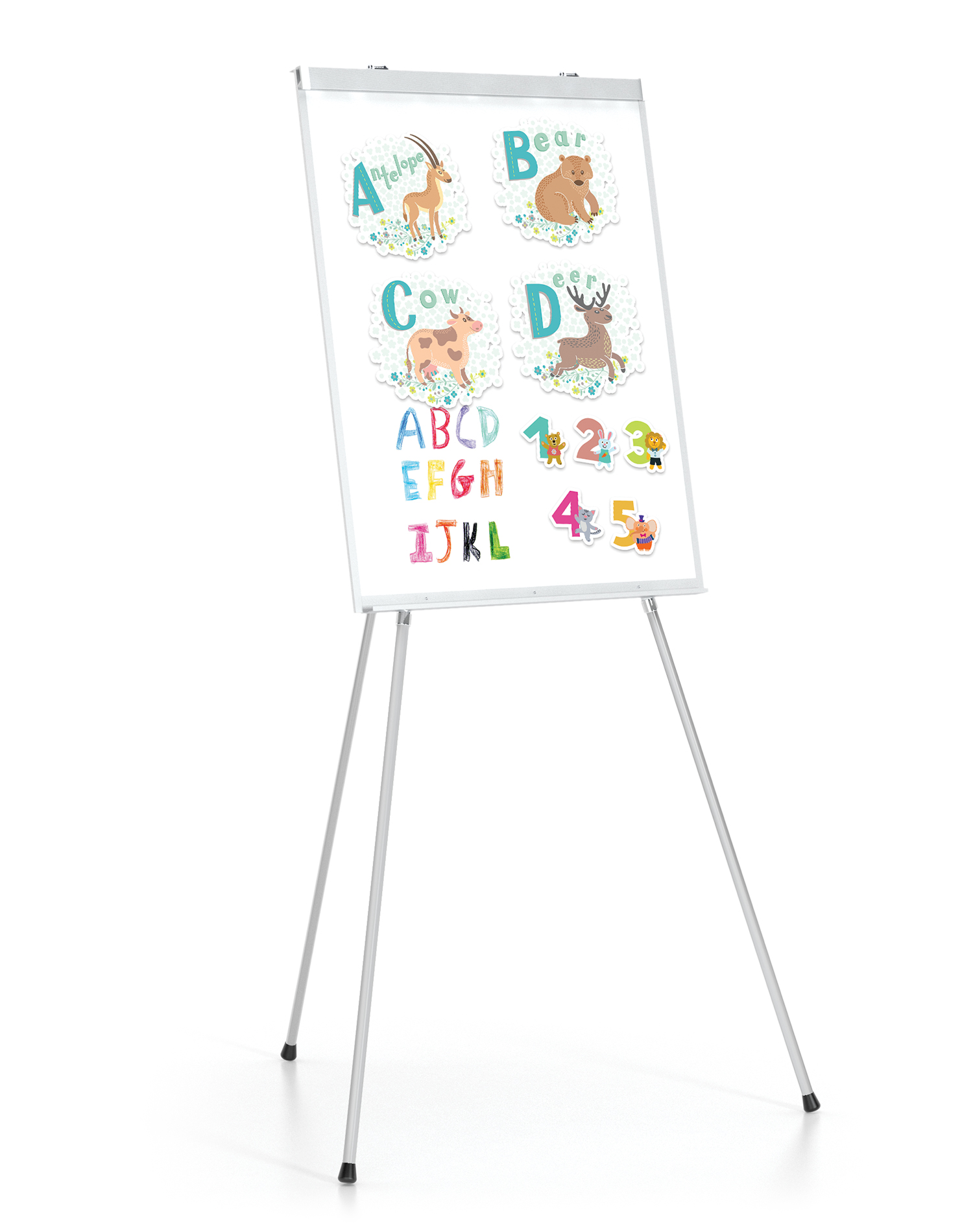 Portable Presentation Floor Easels Lightweight and Durable White Board 3 Leg