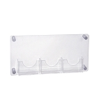 Three-Pocket Bifold Wall Mount Brochure Holder Overall Measurement: 23
