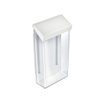 Outdoor Adhesive Wall Mount Trifold Brochure Holder w/ White Lid for 4