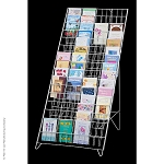Fold-Flat 60-Pocket Greeting Card Floor Display (White)