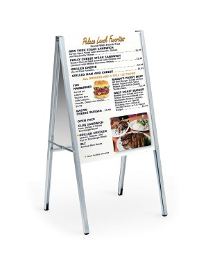 AF24-S - GREAT FOR FOOD SERVICE, PROMOTIONAL MESSAGES, RETAIL SIGNAGE AND MORE.