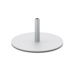 "6-3/4"" DIAMETER ROUND STEEL BASE WITH DOUBLE SIDED TAPE ON BOTTOM"