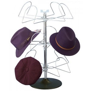 Men's Countertop Wire 8 Hat Rack Display Chrome