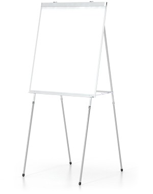 425: WHITE MARKERBOARD EASEL  UNIQUE, GROOVED 4-LEG DESIGN FOR EASY ALIGNMENTRN INTO 3 POSITIONS