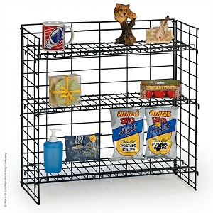"3 Shelf Fold-Up Countertop Display (24"" Wide) Snack Impulse Buys"
